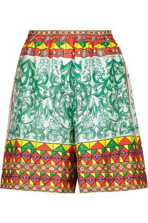 Dolce & Gabbana Shorts in faille di seta con stampa