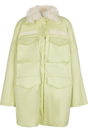 The Attico Parka Janet in cotone con pelliccia sintetica