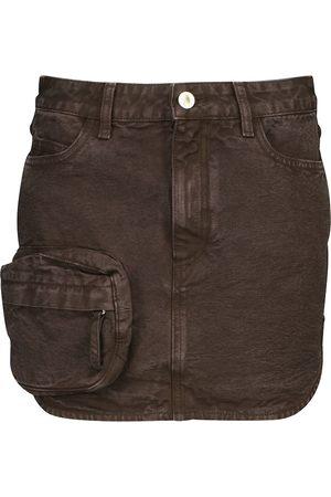 The Attico Minigonna di jeans a vita alta