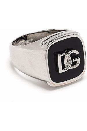 Dolce & Gabbana Uomo Anelli - Anello con logo goffrato