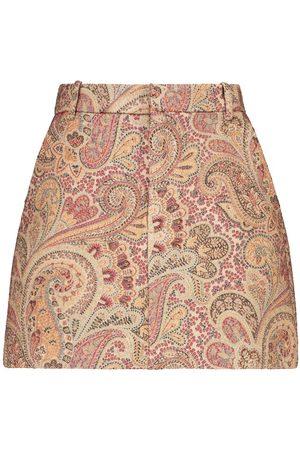Etro Shorts in jacquard di lana e seta