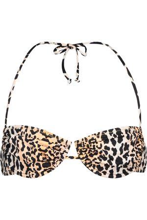 Reina Olga Top bikini Penny con stampa leopardata