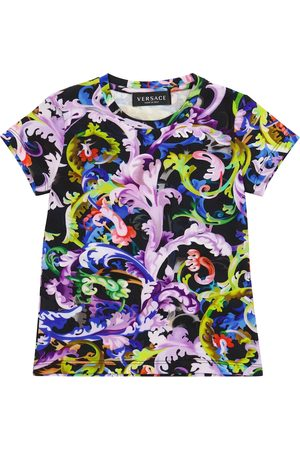 VERSACE T-shirt Baroccoflage in cotone stretch