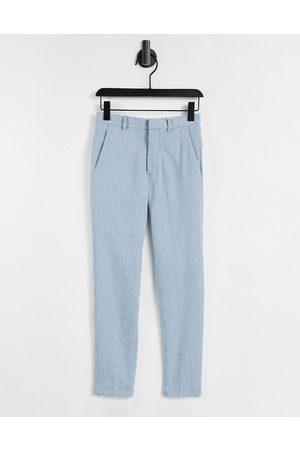 ASOS Pantaloni super skinny eleganti in misto lana con motivo pied de poule