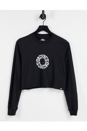 Dickies Maglietta a maniche lunghe con logo a forma di globo sul retro nera