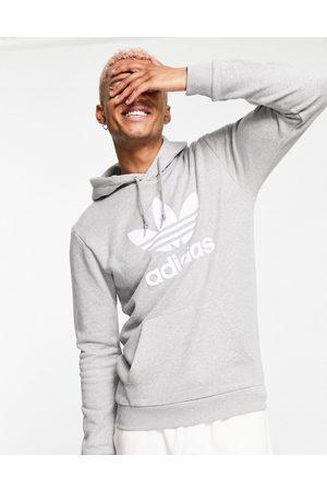 adidas Uomo Felpe - Adicolor - Felpa con cappuccio grigia con logo a trifoglio