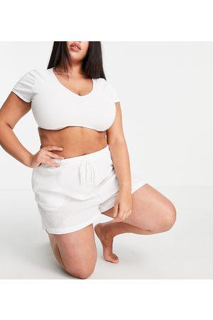 Loungeable Plus - Mix and Match - Pantaloncini del pigiama in tessuto seersucker
