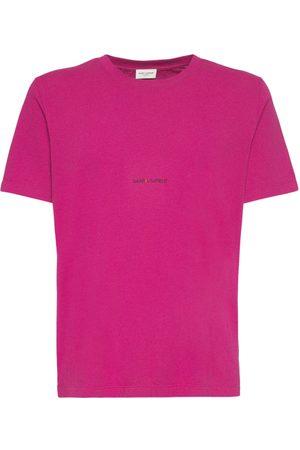 Saint Laurent Uomo T-shirt - T-shirt In Cotone Con Logo