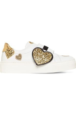MOSCHINO Bambina Sneakers - Sneakers In Pelle Con Applicazione