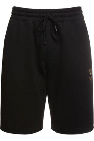 Dolce & Gabbana Uomo Pantaloncini - Shorts In Cotone Con Ricami