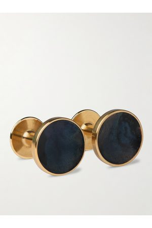 ALICE MADE THIS Bayley Gold-Tone Amethyst Patina Cufflinks