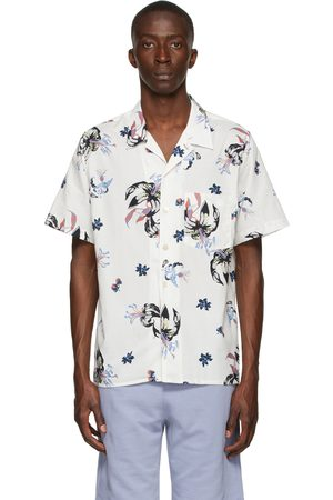 Paul Smith Uomo Casual - Off-White Floral Casual Short Sleeve Shirt
