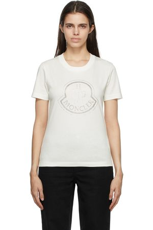 Moncler Off-White Crystal-Cut Logo T-Shirt