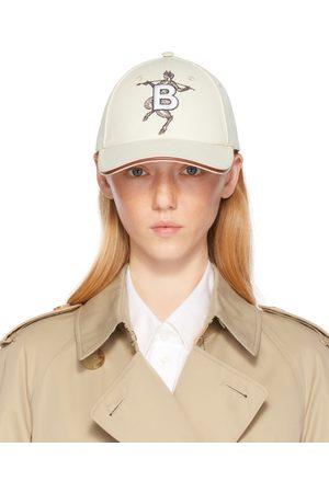 Burberry Donna Cappelli con visiera - Off- Mythical Alphabet 'B' Faun Cap