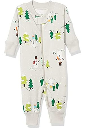 Moon and Back by Hanna Andersson Moon and Back One Piece Footless Pajamas Infant-And-Toddler-Sleepers, Snowman Print, 0 mesi