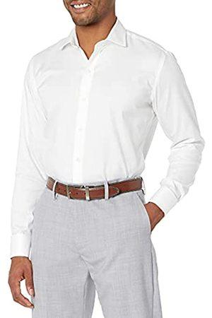 """Buttoned Down Uomo Elegante - Marchio Amazon - , camicia da uomo, aderente, con polsino francese, in cotone Supima, facile da stirare, con colletto ampio, , 15.5"""" Collo 31"""" Manica"""