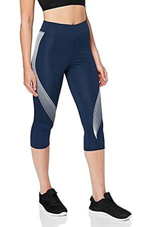 AURIQUE Marchio Amazon - Leggings Sportivi Capri con Stampa Donna, , 42, Label:S