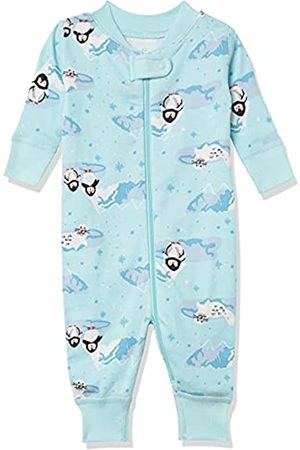 Moon and Back by Hanna Andersson Moon and Back One Piece Footless Pajamas Infant-And-Toddler-Sleepers, Penguin Print, 0-3 mesi