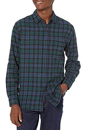 Amazon Camicia da uomo, a maniche lunghe, vestibilità standard, a quadri, in flanella, , US M