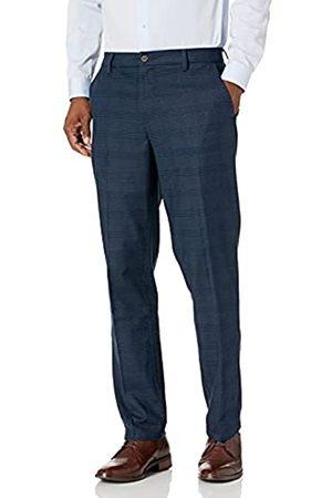 Goodthreads Athletic-Fit Wrinkle Free Dress Chino Pants, Navy Glen Plaid, 30W x 34L