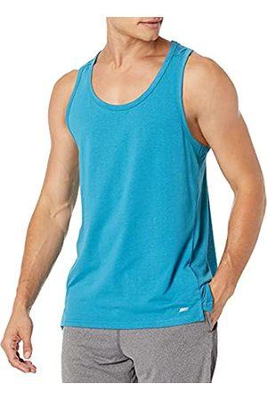 Amazon Uomo Magliette intime - Performance Cotton Tank Undershirts, Federal Blue, US S