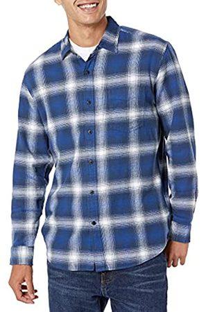 Amazon Camicia da uomo, a maniche lunghe, vestibilità standard, a quadri, in flanella, , US S
