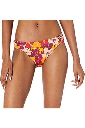 Amazon Donna Bikini - Side Tab Bikini Bottom Fashion-Swimsuit-Bottoms-Separates, Orange Floral, US S
