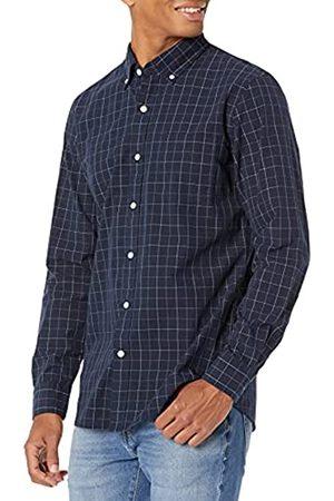 Goodthreads Uomo Camicie a maniche lunghe - Camicia a Maniche Lunghe in Poplin Slim Fit Uomo, , Large
