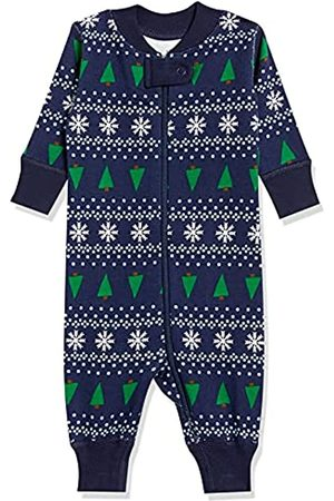 Moon and Back by Hanna Andersson Moon and Back One Piece Footless Pajamas Infant-And-Toddler-Sleepers, Winter Fair Isle, 0 mesi