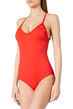 PUMA Swim Women's V-Neck Crossback Swimsuit Tuta da Nuoto One Piece, Colore: , L Donna