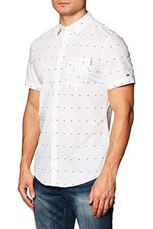 Tommy Hilfiger Tommy Jeans Tjm Short Sleeve Dobby Shirt Camicia, Bianco, XXL Uomo