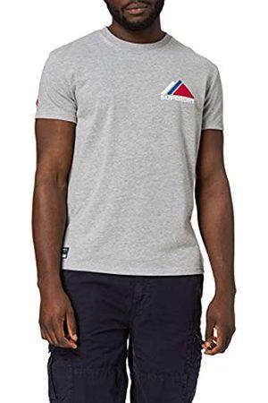 Superdry M1011085A T-Shirt, Grigio-Grey Marl, M Uomo