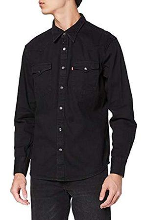 Levi's Barstow Western Standard Camicia, Black , Medium Uomo