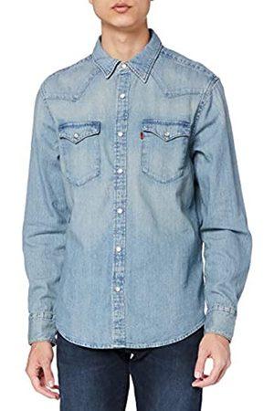 Levi's Barstow Western Standard Camicia, Blue , Small Uomo