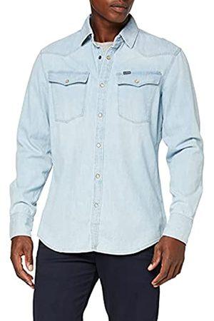 G-Star 3301 Slim Shirt Camicia in Jeans, Nero , Small Uomo