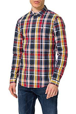Tommy Hilfiger Tommy Jeans Tjm Seasonal Check Shirt T, Twilight Navy/Multi, XL Uomo