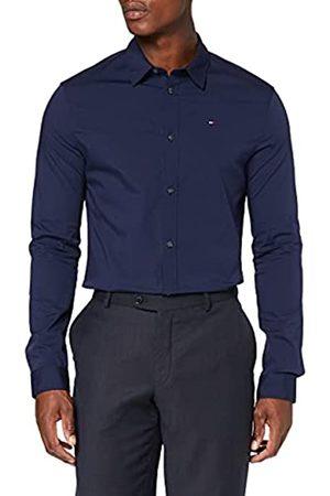 Tommy Hilfiger Tommy Jeans Original Stretch Camicia Slim Fit, Blu , XS Uomo