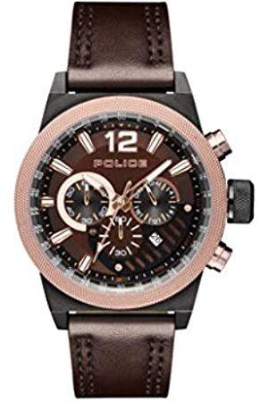 Police Orologio Cronografo Quarzo Uomo con Cinturino in Pelle PL.15529JSBBN/12