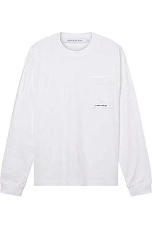 Calvin Klein Jeans Micro Essential Pocket L/S Tee T-Shirt, , M Uomo