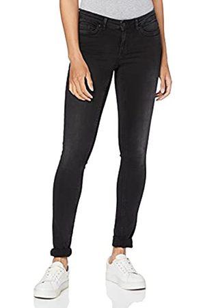NAME IT NMEVE LW Pocket Piping Jeans VI876 Noos Slim, Nero , W28/L30 Donna