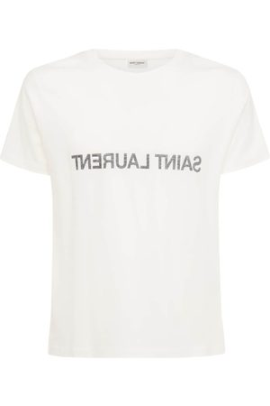 Saint Laurent Uomo T-shirt - T-shirt In Cotone Con Stampa