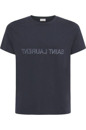 Saint Laurent T-shirt In Cotone Con Stampa