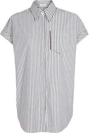 Brunello Cucinelli Esclusiva Mytheresa - Camicia in cotone stretch a righe