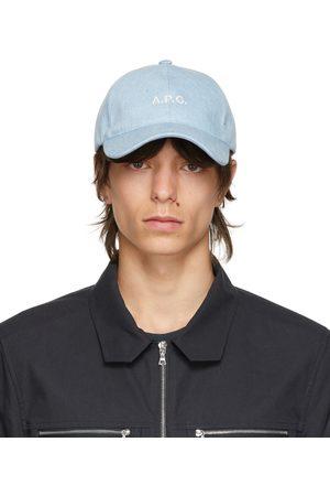 A.P.C. Uomo Cappelli con visiera - Blue Denim Charlie Cap