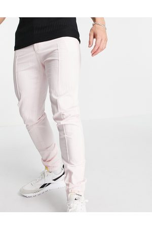 ASOS Pantaloni eleganti skinny con polsino stile joggers in seersucker