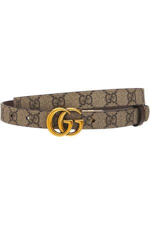 "Gucci Donna Cinture - Cintura Reversibile ""gg Marmont"" In Pelle"
