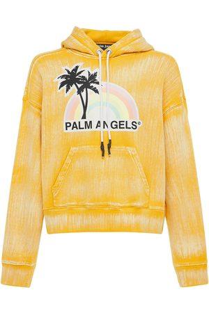 Palm Angels Felpa Lvr Exclusive Glow Rainbow Con Cappuccio