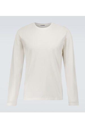Jil Sander T-shirt a maniche lunghe in cotone