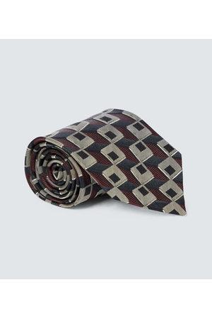 DRIES VAN NOTEN Cravatta in seta con stampa