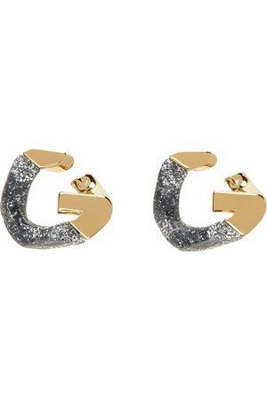 Givenchy Uomo Orecchini - Gold Two-Tone G Chain Earrings